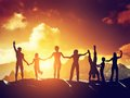 Happy group of people, friends, family having fun together Royalty Free Stock Photo
