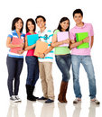 Happy group of students Stock Images