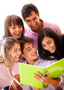 Happy group of students Royalty Free Stock Photo
