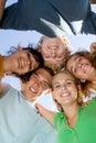 Happy group teens Royalty Free Stock Photo