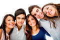 Happy group of young people Stock Images