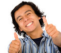 Happy guy with thumbs up Stock Images