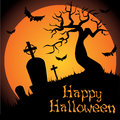 Happy halloween abstract dark objects on special background Royalty Free Stock Photo