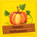 Happy Halloween, Autumn Orange Pumpkin Vegetable Royalty Free Stock Photo