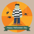 Happy halloween background character banner Stock Photography