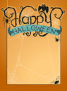 Happy halloween background vector illustration of with typography Stock Photo