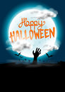 Happy halloween background vector with spooky elements Stock Images