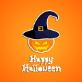 Happy halloween card design illustration Royalty Free Stock Photography