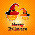 Happy halloween card design illustration Stock Images