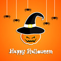 Happy halloween card design illustration Stock Photo