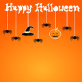 Happy halloween card design illustration Stock Image