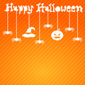 Happy halloween card design illustration Stock Photography