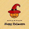 Happy halloween card design illustration Royalty Free Stock Images