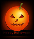 Happy halloween card with glowing pumpkin Stock Images
