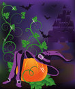 Happy halloween card vector illustration Royalty Free Stock Photos