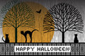 Happy Halloween Cats Royalty Free Stock Photo