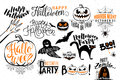 Happy Halloween celebration icon label templates