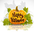 Happy Halloween cut out pumpkin banner Stock Photos