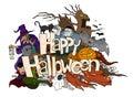 Happy Halloween Doodle Royalty Free Stock Photo