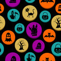 Happy halloween elements seamless pattern background eps file colorful vector organized in layers for easy editing Royalty Free Stock Photo