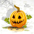 Happy Halloween font cut out pumpkin Jack Stock Image