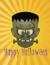Happy Halloween Frankenstein Monster Illustration Stock Photos