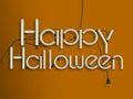 Happy halloween glowing neon text 3d illustration