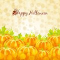 Happy halloween greeting card with pumpkins this is file of eps format Royalty Free Stock Image