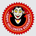 Happy Halloween Guarantee Seal / Label Royalty Free Stock Image