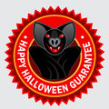 Happy Halloween Guarantee Seal / Label Royalty Free Stock Images