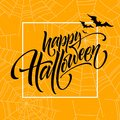 Happy halloween. Hand drawn creative calligraphy and brush pen lettering. Vector illustration