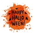 Happy Halloween - handdrawn typography lettering
