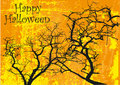 Happy Halloween orange poster Royalty Free Stock Photo
