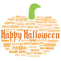 Happy halloween and other scary words Stock Photography