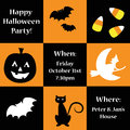 Happy halloween party invite pumpkin Royalty Free Stock Images