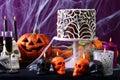 Happy Halloween Party Table Royalty Free Stock Photo