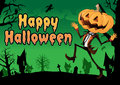 Happy Halloween Postcard. Stock Images