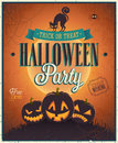 Happy halloween poster vector illustration Royalty Free Stock Photos