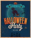 Happy halloween poster vector illustration Royalty Free Stock Images