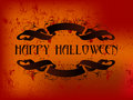 Happy Halloween ribbon Stock Photography