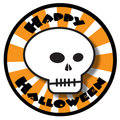 Happy Halloween skull Royalty Free Stock Image