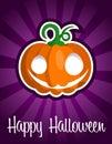 Happy Halloween Smiling Pumpkin