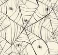 Happy Halloween spider webs seamless pattern background EPS10 file. Royalty Free Stock Photo