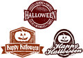 Happy Halloween Stamps Royalty Free Stock Photos