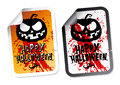 Happy Halloween stickers Stock Photos