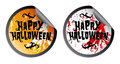 Happy Halloween stickers Royalty Free Stock Photography