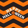 Happy Halloween Text Pumpkin S...