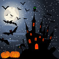 Happy halloween theme greeting card vector illustration Stock Image