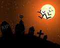 Happy halloween theme greeting card vector illustration Royalty Free Stock Photos