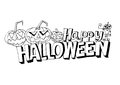 Happy halloween theme and halloween background images of Royalty Free Stock Photos